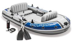 Inflatable Kayak Motor {Intex Excursion Inflatable Boat Set with Aluminum Oars and High Output Air Pump (Latest Model) Best Inflatable Boat, Inflatable Kayak, Urban Survival, Survival Gear, Piscina Intex, Child Bike Seat, Boat Rod Holders, Boat Brands, Kayak Storage