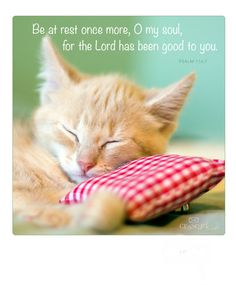 Be at rest once more, O my soul, for the Lord has been good to you.  Psalm 116:7
