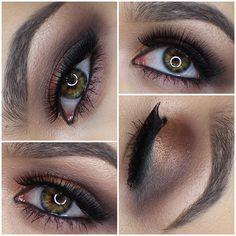 Copper and cool toned smokey eye using the vice 3 palette from urban decay @katherinerdz