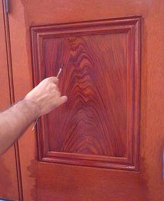 process of woodgraining
