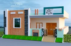 House Balcony Design, House Arch Design, 2 Storey House Design, Village House Design, Bungalow House Design, Modern Small House Design, Cool House Designs, House Elevation, Front Elevation