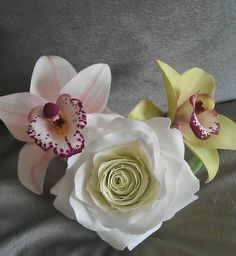 Simply Sugar - Orchids and a Rose - by La lavande Cake Boutique @ CakesDecor.com - cake decorating website