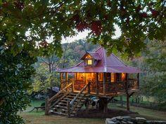 Atmosfera da fiaba per questa casa vacanza in Tennessee, USA
