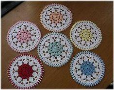 「yasasiikaze」お花のコースターの編み図 Lace Doilies, Crochet Doilies, Crochet Lace, Crochet Motif, Irish Crochet, Crochet Coaster, Mug Rugs, Handicraft, Free Pattern