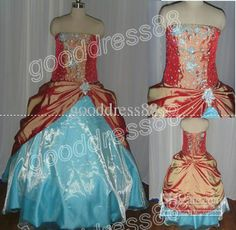 Wholesale Actual ImagesChic Strapless Floor Length Taffeta/Organza Ball Gown Quinceanera Dresses G2837, Free shipping, $122.08-155.68/Piece | DHgate