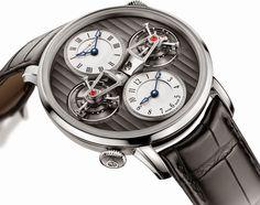 Arnold & Son - DTE Double Tourbillon Escapement Dual  Time for 2015  #luxury #watches #tourbillon