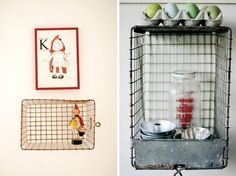 Roundup: Vintage Wire Baskets & Ways to Use Them