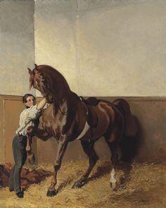 Alfred de Dreux: Départ pour la promenade, c.1855.