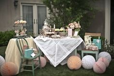 uh-oh, i love this idea of a bridal tea party for a shower...this goes against my original thoughts though..