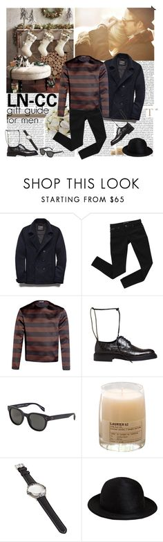 """""""LN-CC gift guide for men"""" by helena99 ❤ liked on Polyvore featuring 21 Men, Bardot, Raf Simons, Yang Li, Oliver Peoples, Le Labo and Ann Demeulemeester"""