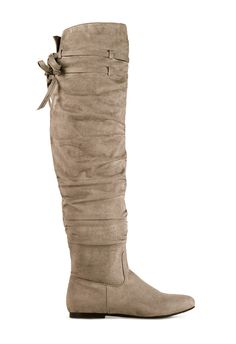 For a casual chic look, put on a pair of cute tall boots!