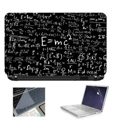 Laptop Skin With Key Guard And Screen Protector.