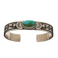 Bracelet Navajo Turquoise Royston sur argent. | Harpo Paris #bracelet #femme…