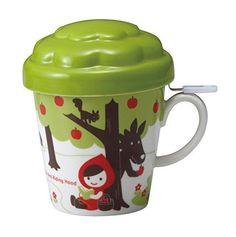 "Decole ""OTOGICCO"" Little Riding Hood Apple Tree Mug Cup w..."