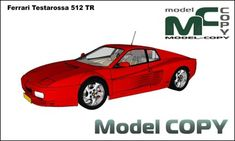 Ferrari Testarossa 512 TR - Modello 3D - Model COPY