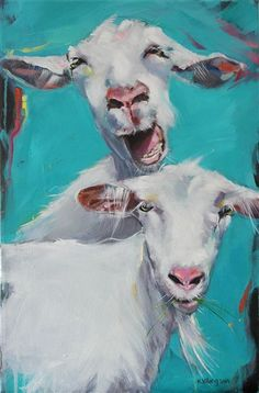 Sacred Really Like - 22 Solutions That Should Change The Tide In Your Daily Life Along With The Lives Of Any Individual Galleri 5 - Kari Wang Maleri Goat Paintings, Animal Paintings, Animal Drawings, Art Drawings, Goat Art, Sheep Art, Cow Painting, Farm Art, Whimsical Art