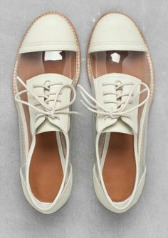 White oxford style shoes