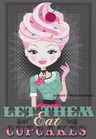 LET THEM EAT CUPCAKES hehe cute graphic