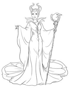 coloring page Maleficent - Maleficent