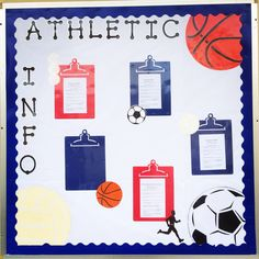 Bulletin Board for Athletics and PE