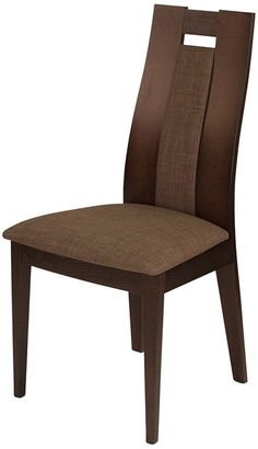 Delacora Almont Wide Dining Chair with Upholstered Seat Espresso with Golden Honey Indoor Furniture Chairs Dining Wooden Dining Table Designs, Wooden Dining Tables, Modern Dining Chairs, Dining Table Chairs, Living Room Sofa Design, Dining Room Design, King Furniture, Dining Room Furniture, Wood Chair Design