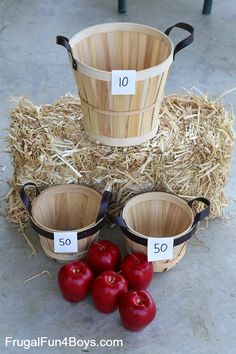 Simple Carnival Games for Kids Backyard Carnival Games Harvest Party Games, Harvest Festival Games, Fall Festival Party, Fall Party Games, Fall Harvest Party, Apple Festival, Fall Games, Fall Festivals, Holiday Games