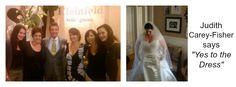 "Judy said ""Yes for the Dress"" at Kleinfeld's.  www.WhiteSatinWeddingShow.com"