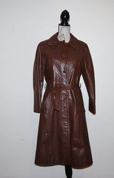 Vintage Coat Leather with Woven Style by CheekyVintageCloset, $62.00