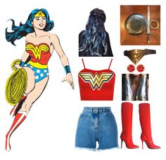 """""""Happy (Belated) Wonder Woman Day!!!"""" by batgirl-at-the-walking-dead3 ❤ liked on Polyvore featuring WearAll, Philosophy di Lorenzo Serafini, Giuseppe Zanotti and Chico's"""