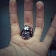 Dart vader ring  Available Size: 8 & 9  Order check bio . . . . . . . . . . . .  #jewels #vintage #cincin #jewellery #handmade #ring #accessories #rings #accessory #skull #skeleton #skulltattoo #dead #streetart #skulls #halloween #tattoo #illustration #death #dayofthedead #design #dartvader #ringdartvader #starwars #skullrings #skullrings #ringofskull #cincintengkorak by elementaryskull