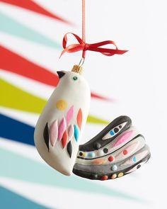Partridge Christmas Ornament, Multi $35 Neiman Marcus via www.MyDomaine.com
