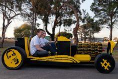 full scale LEGO car runs entirely on air