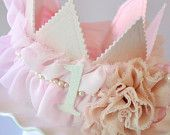 Girls Ruffled Rosette Fabric Crown Dress up by propshopboutique