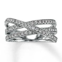 14K White Gold ½ Carat t.w. Diamond Ring. So beautiful! Perfect for a right hand ring.