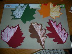 podzimní list - frotáž