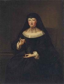 Portrait of a widow, early 18th century by Pierre Gobert (1662-1744)