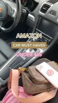 Best Amazon Buys, Best Amazon Products, Cool Car Accessories, Car Interior Accessories, Car Interior Decor, Car Interior Design, Pink Car Interior, Girly Car, Car Essentials