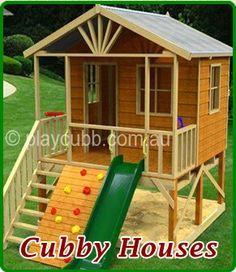 Kookaburra Loft Cubby House Australian-Made Backyard Playground Equipment DIY Kits Kids Backyard Playground, Backyard Playset, Backyard For Kids, Playground Slide, Playground Design, Playground Ideas, Cubby House Plans, Cubby Houses, Play Houses