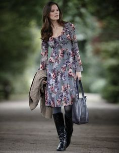 Gypsy Floral Dress by Pepperberry    http://curvyconfidentlooks.blogspot.com/