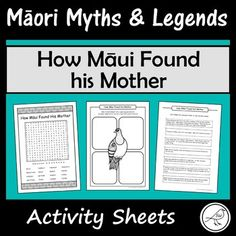These are fun and engaging activity sheets for the story 'How Māui Found his Mother. Plenty of activities to pick-and-choose from. Simply print and you're ready to go! A great addition to a unit study on Māori Myths and Legends. Designed for