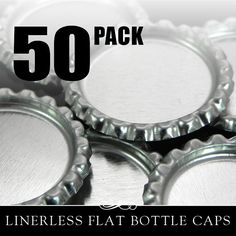 Flat Bottle Caps 50 Flattened Chrome Bottle Caps by AnnieHowes, $3.50