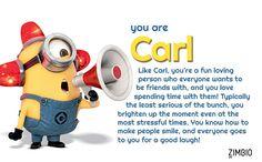 I took Zimbio's Minion quiz and got Carl ! - Quiz