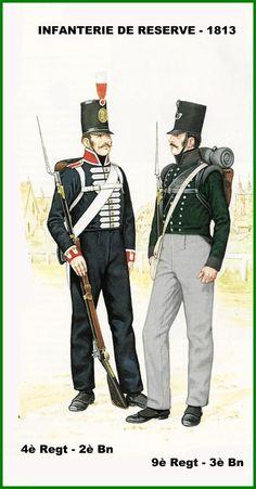 PRUSSIA - Fanteria in Linea di Riserva 4° Reggimento, 2° Btgl. -   9° Reggimento, 3° Btgl. - 1813