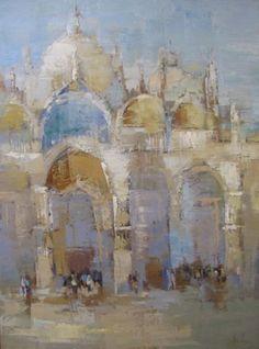 "Barbara Flowers, ""Venice"", Oil on Canvas, 48x36 - Anne Irwin Fine Art"
