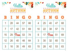 Autumn Bingo Cards, 1000 cards, 2 per page, immediate pdf download, Fall Bingo Halloween Bingo Cards, Custom Bingo Cards, Bingo Calls, Bingo Patterns, Mary Kay Party, I Am Game, Paper Size, Party Games, Card Making