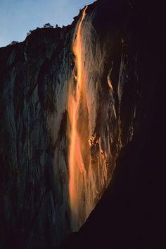 ✯ Last Light on Horsetail Fall - Yosemite, California