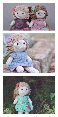Amigurumi Unicorn Girl Doll Free Pattern Crochet Crafts, Crochet Toys, Crochet Projects, Free Crochet, Crochet Dolls Free Patterns, Amigurumi Patterns, Doll Patterns, Unicorn Doll, Crochet Unicorn