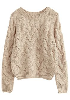Khaki Twisted Knit Sweater//