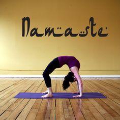 Wall Decal Sticker Bedroom Namaste quote yoga greeting namaskar hindu culture 062b