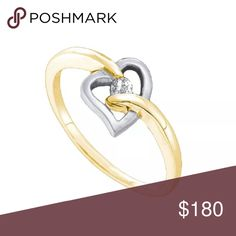 10k Yellow Gold Natural Diamond 💎 Ring 1/20 Cttw 10k Yellow Gold Round Natural Diamond Solitaire Womens 2-tone Heart Promise Ring 1/20 Cttw  Product Specification Gold Purity & Color10kt Yellow Gold Diamond Carat1/20 Ct.t.w. Diamond Clarity / ColorI2-I3 / J-K Width5 mm ( .2 inches ) Width of shank1.5 mm Ring Size7 Gram Weight1.54 grams (approx.) StyleHearts & Love Item Number-48338 Jewelry Rings